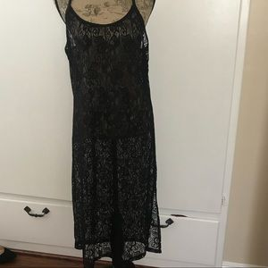 Volcom shirt dress with lace overlay